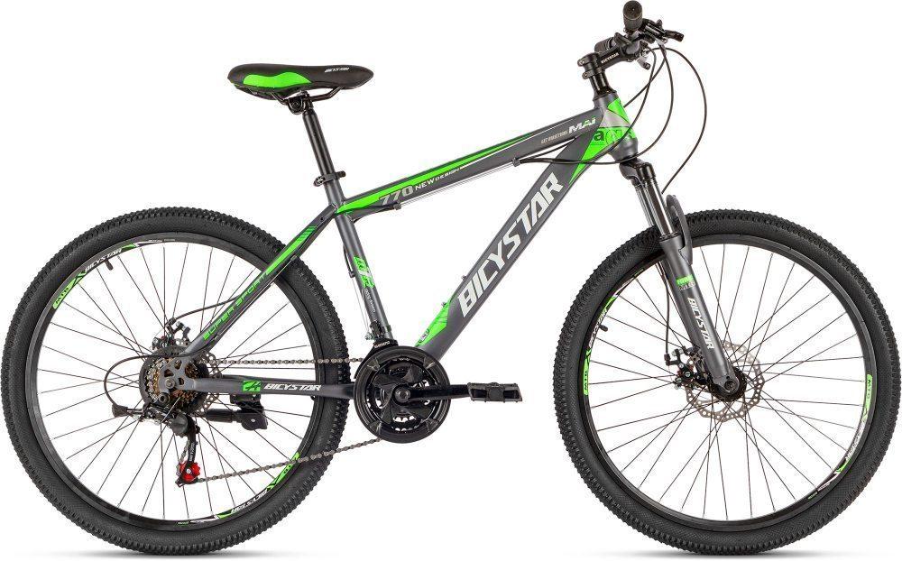 """Велосипед  26"""" BICYSTAR, сталь, 21 ск, диск,+крылья"""