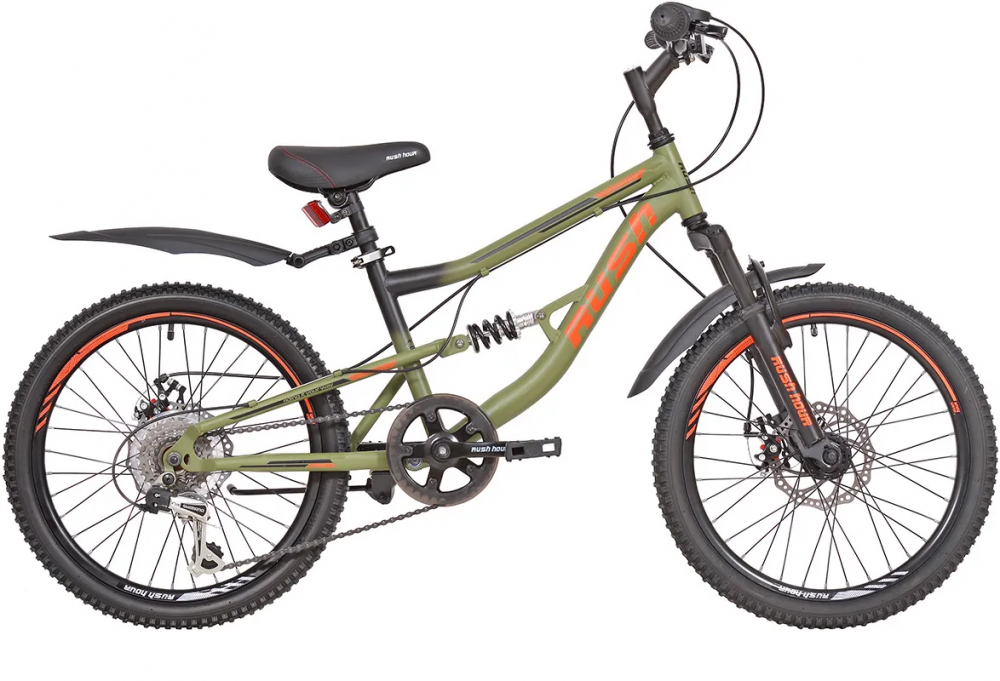 "Велосипед 20"" 6ск RUSH HOUR FS 275 DISC ST"