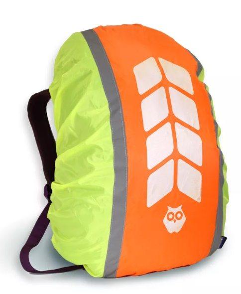Чехол на рюкзак со световозвращающими лентами и аппликацией, объем 20-40 литров
