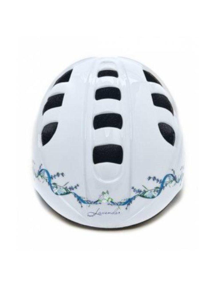 """Шлем детский с регулировкой, размер M(52-56см), цвет белый, рисунок - """"lavender"""""""
