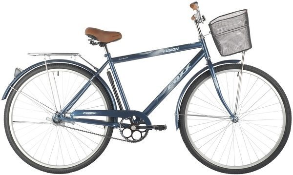 "Велосипед FOXX 28"" FUSION, сталь, передняя корзина"